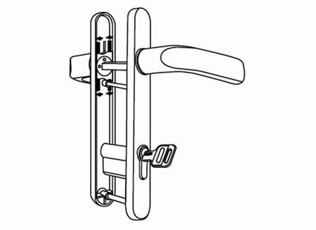 upvc door lock set