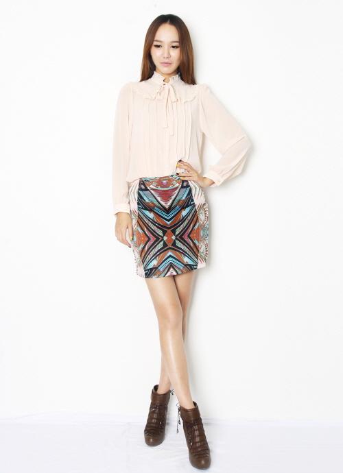 Epaulet blouse