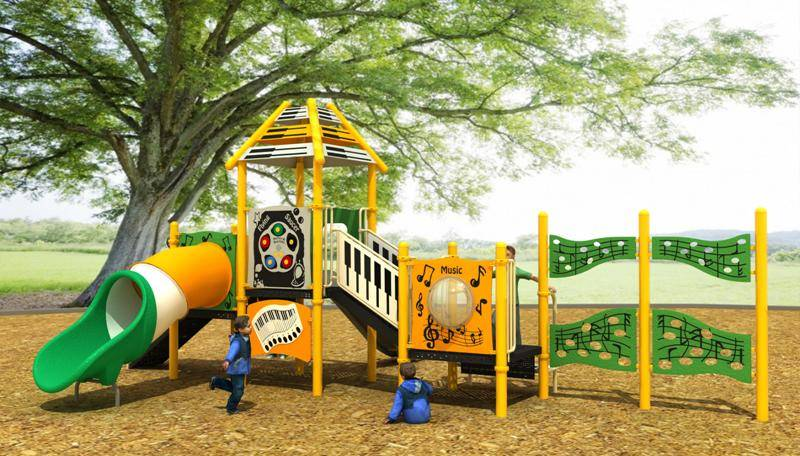 Professional Music Playground Series Outdoor Slide WD-YY106