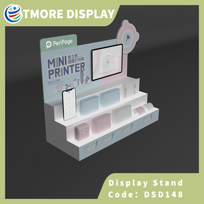 acrylic camera display stand with light