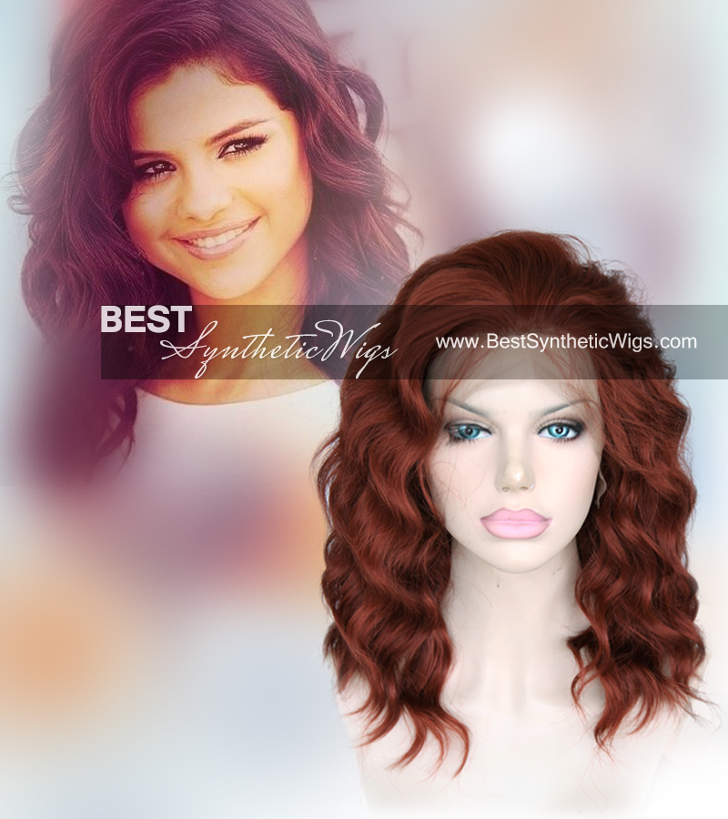 350# short wavy synthetic hair wigs