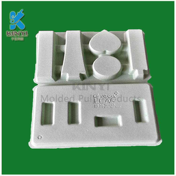 Biodegradable mold pulp packaging tray, cosmetic packaging box, inner packaging