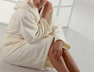 robe for bathing shawl collar
