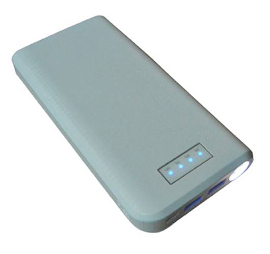 SJ-Y208L 17600mAh  textured indicator strong capacity high quality dual USB power bank  with LED