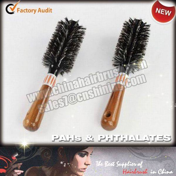 Salon Wooden Hairbrush with Boar Bristle