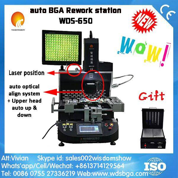 2016 Hot Sale Semi automatic BGA rework station WDS-650 with HD camera & Laser light