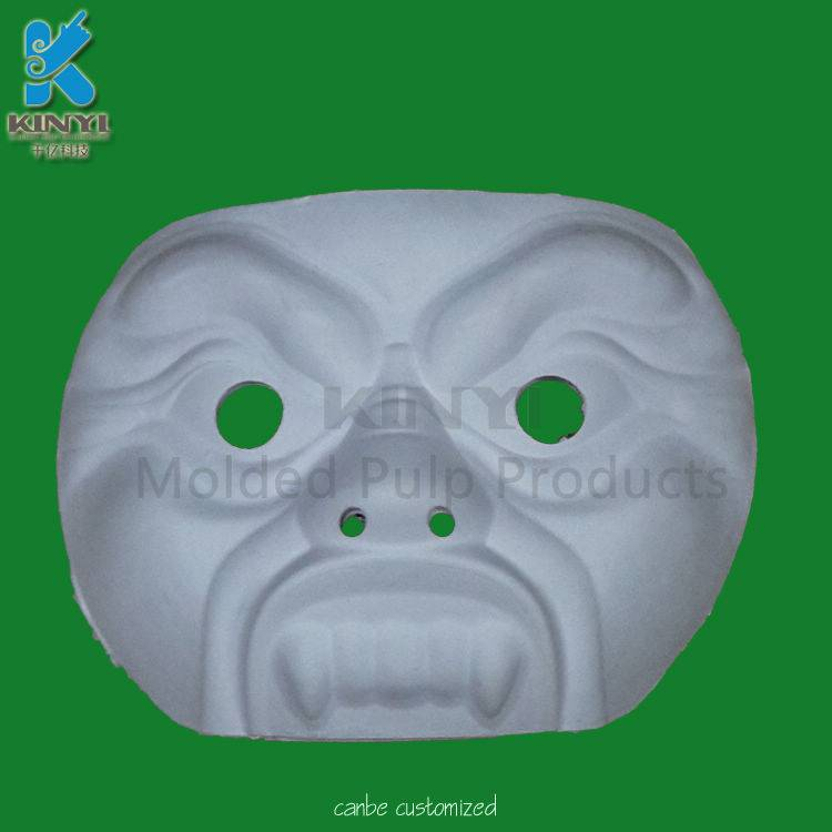 Environmental paper pulp molded opera mask