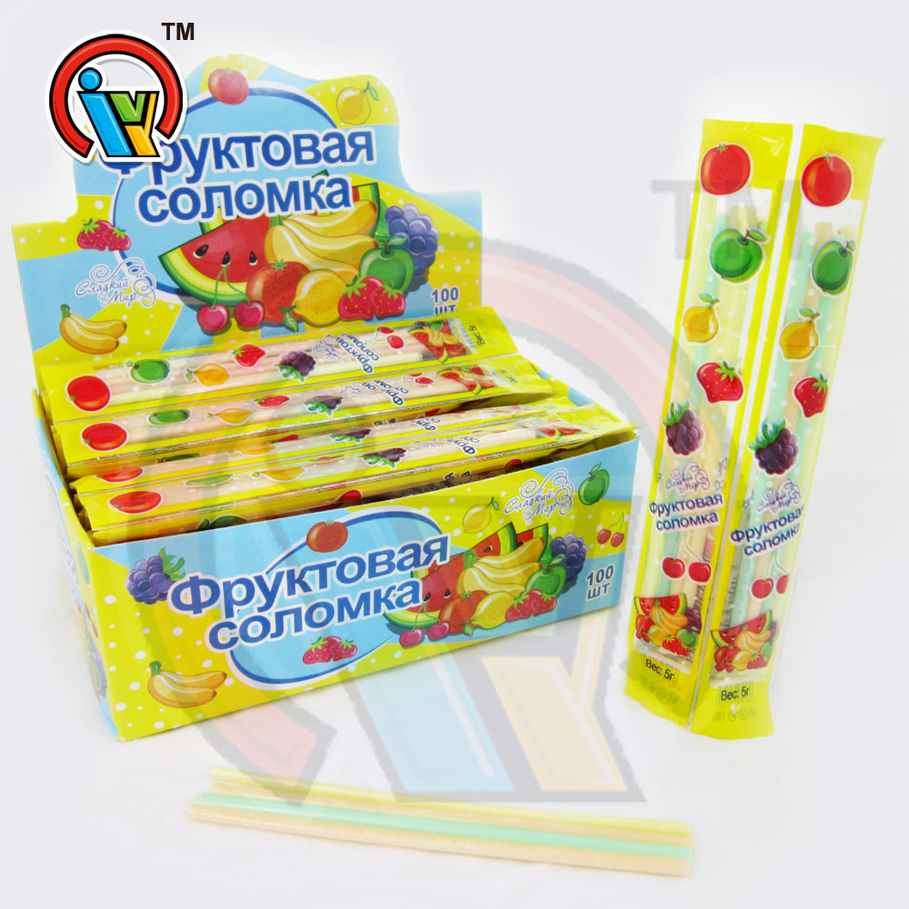 Long Sweet Mix Fruit Flavoured CC Stick Candy