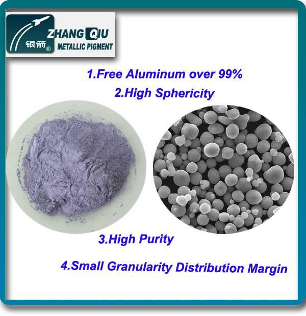 high purity fine atomized spherical aluminum powder