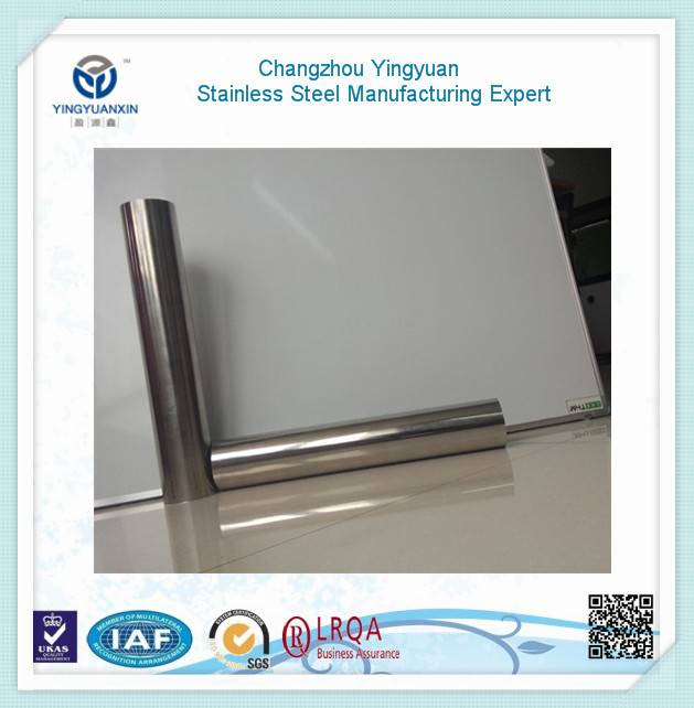 Polished round stainless steel pipe & tube