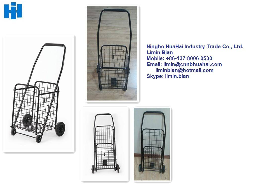 foldable shopping trolley and cart