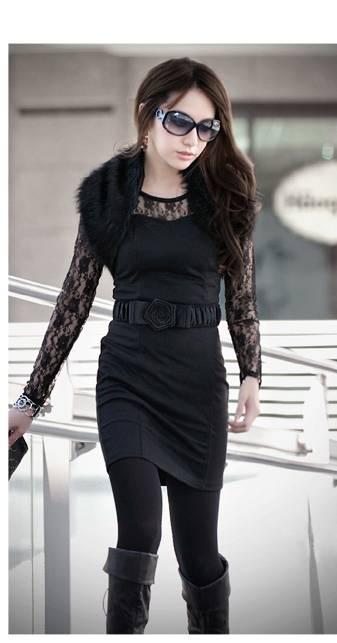 wedding Slender Lace Black Dress designer