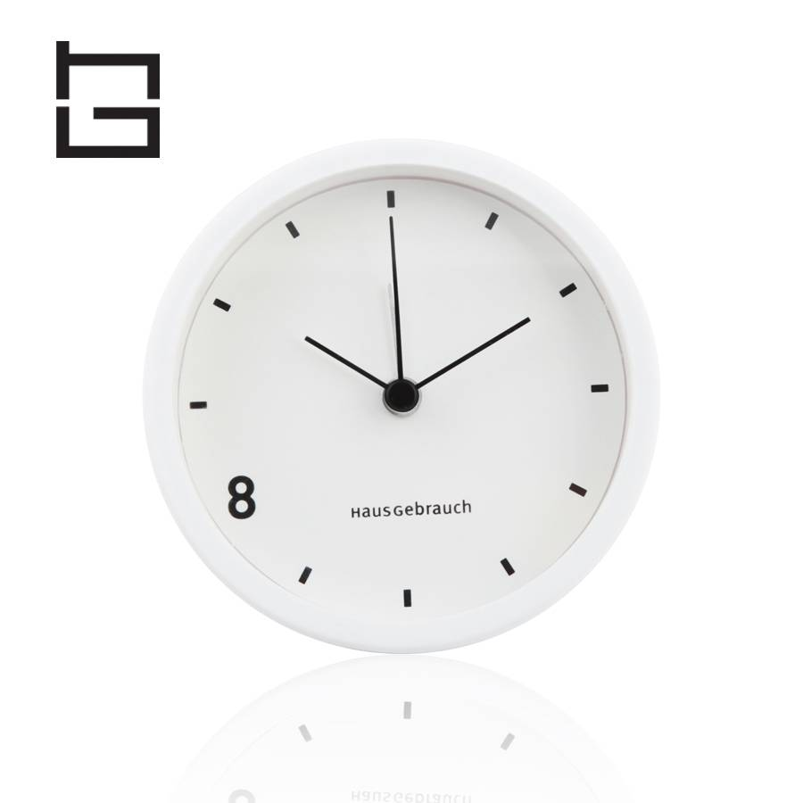 HG hghouseware H61014-2 Mini Japan alarm movement stainless steel desk table clock