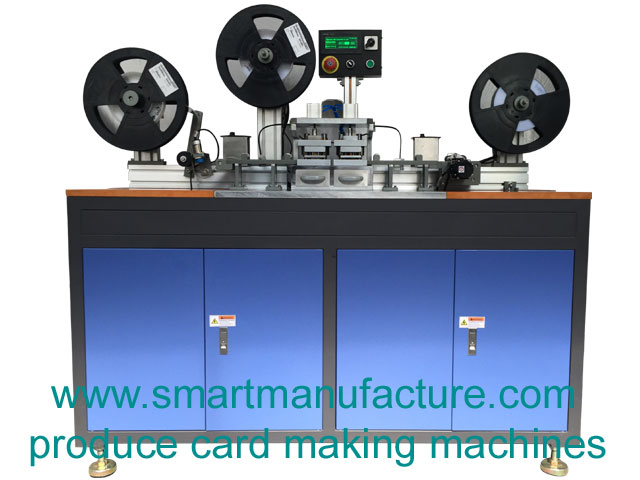 SMNCM-1 RFID Contactless Smart Card Chip Tape Punching Machine