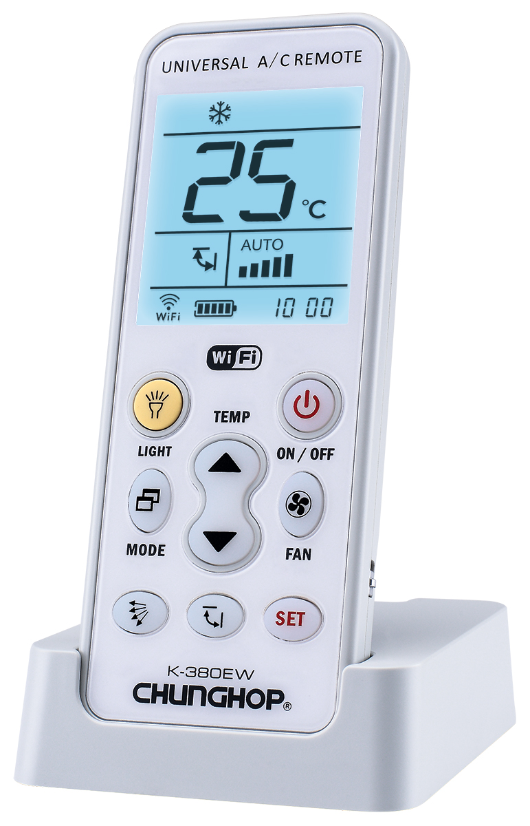 K-380EW 1000 in 1 Universal A/C remote control with backlight and wifi