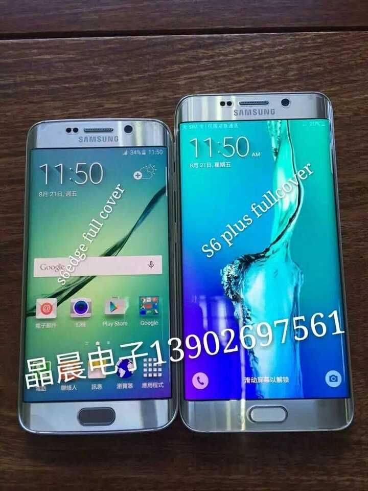 Full cover anti-fingerprint PET screen protector for Samsung S6 edge