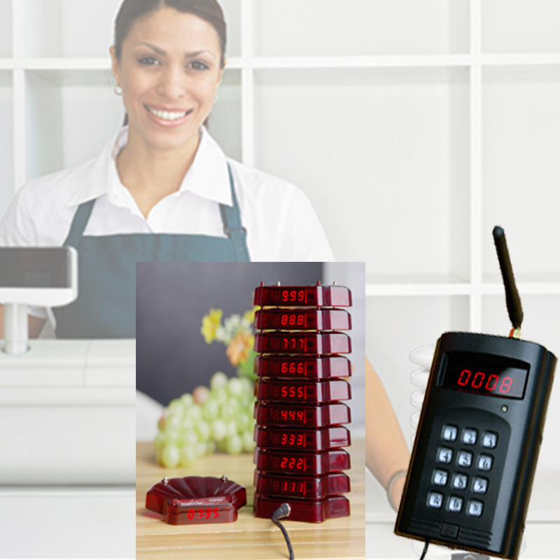 wireless paging system, coaster pagers,guest wireless calling pager, Leetek wireless pagers