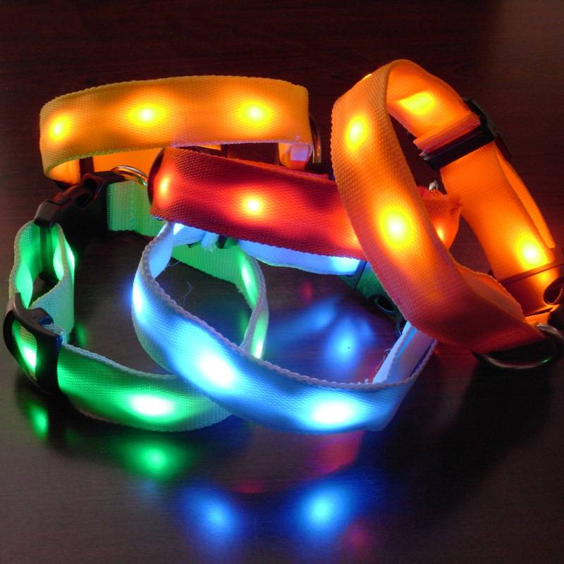 Nylon led pet colloar