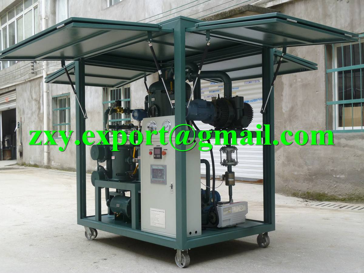 Thermal Vacuum Transformer Oil Treatment Plant, Dielectric Oil Dehydration Machine
