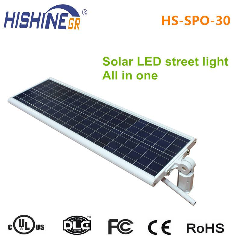 solar street lights with 30 watt led