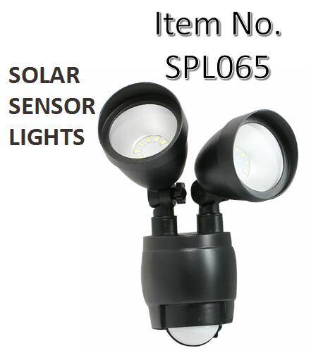 800 Lumen Dual Head Solar Security Light