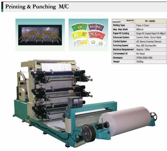 Printing & punching(Die cut) machine