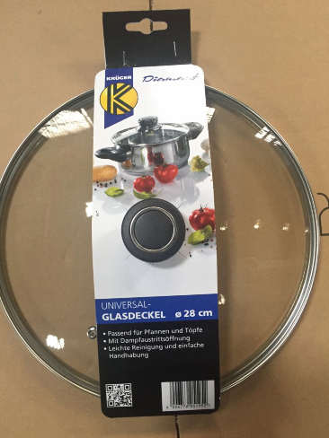 sales in supermarket with sleeve glass lid