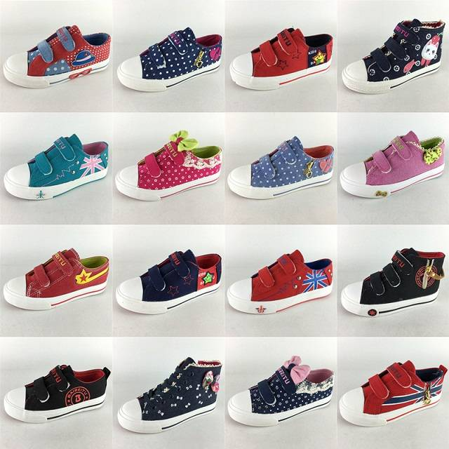 2016 lacing size male spring child canvas shoes casual shoes