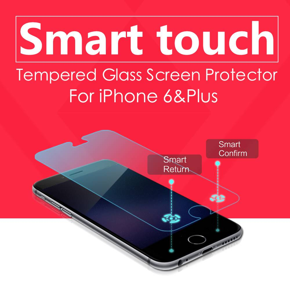 2015 New release ledo magic touch smart tempered glass screen protector for iphone6&6plus