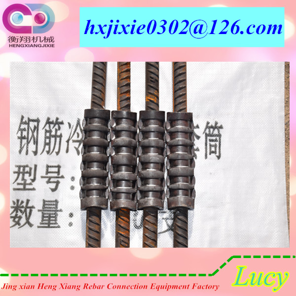 cold forged sleeve splice for rebar