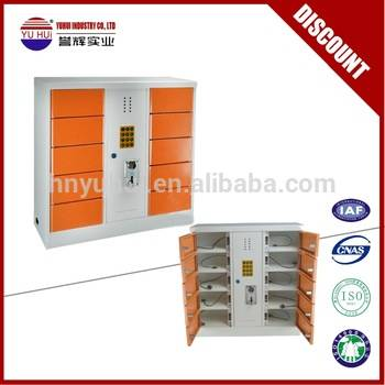 coin operated 10 door deposit locker cell phone charging station