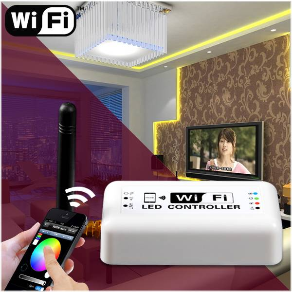 timer alarm wifi led rgb controller dimmable