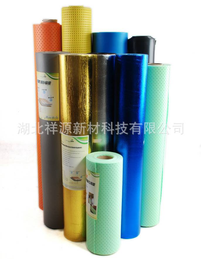 physically crosslinked polyethylene foam underlayment for underfloor heating system