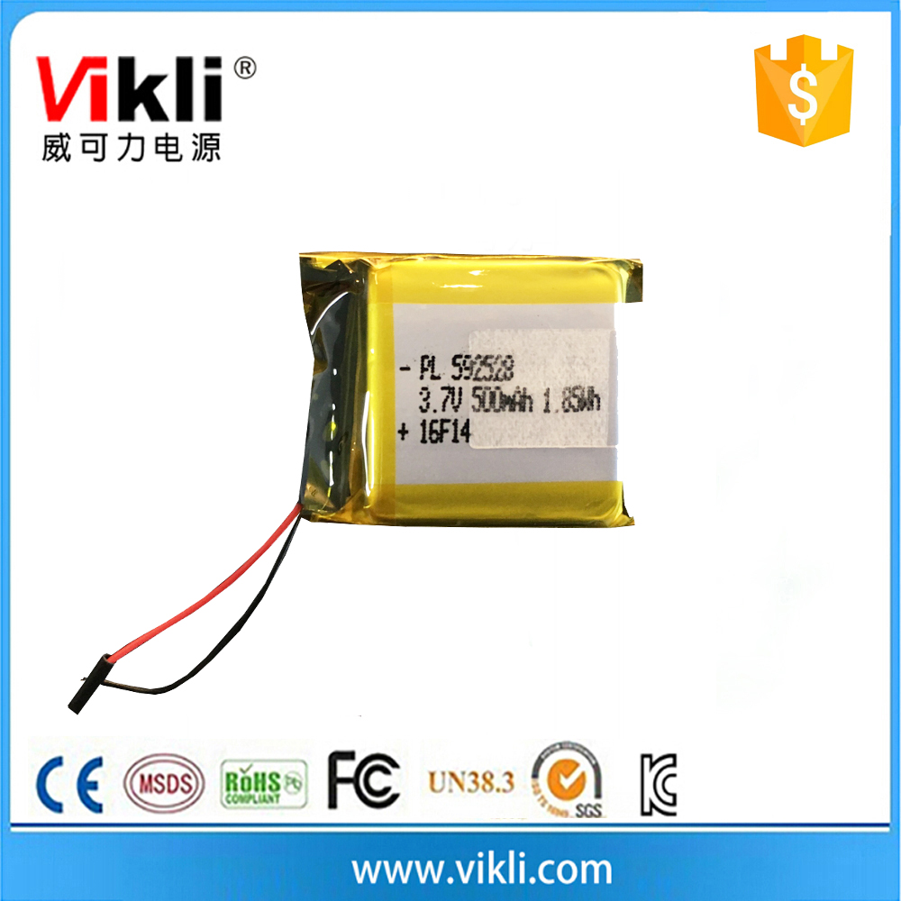Rechargeable 3.7V polymer lithium batteries 500mah