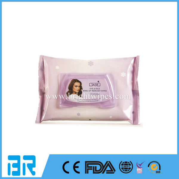Customized Feminine Refreshing Facial Make Up Remover Wipes