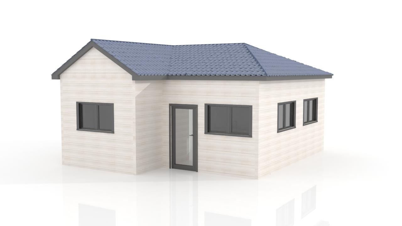 41sqm prefab houses kit