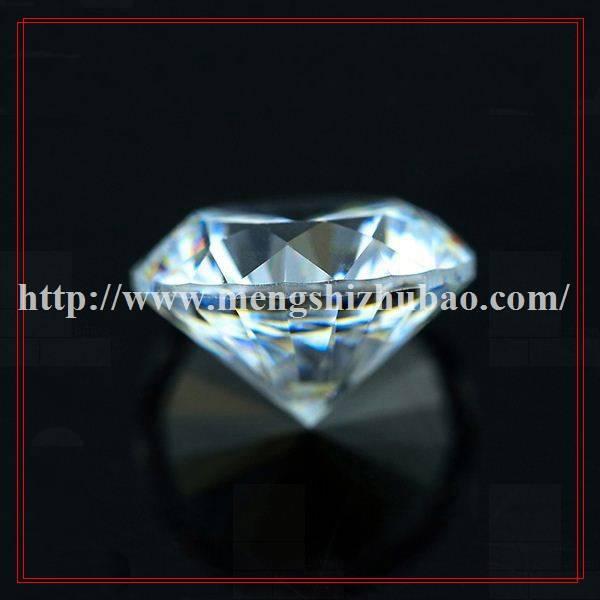 3A cz round cubic zirconia synthetic diamond cut czfor make jewelry