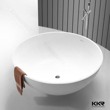 kingkonree solid surface acrylic round bathtub shower