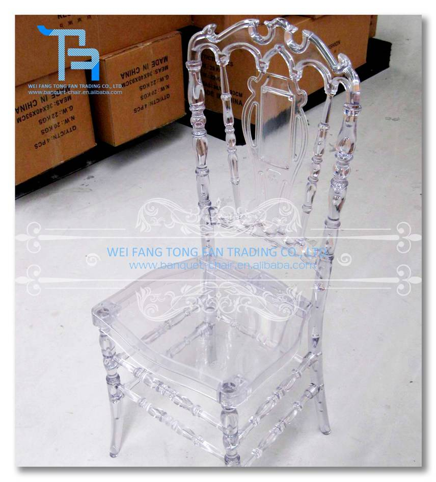 clear resin acrylic royal chair