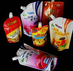 liquid juice packaging,standing bag with spout