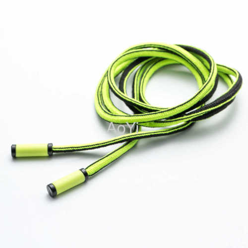 soft polyester drawcord for pants or hoodies with plastic tips