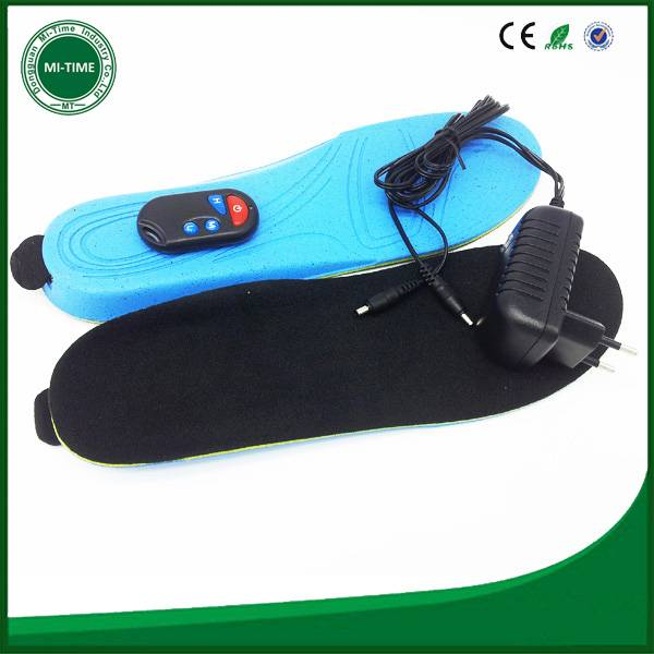 battery heated insoles remote control