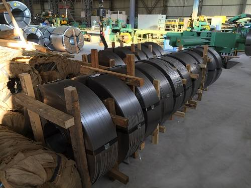 Steel tapes for cable armoring