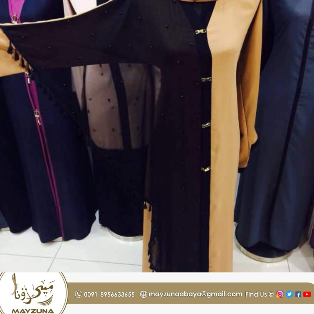 Black Golden Combination Dubai Abaya
