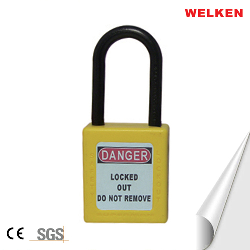 Nylon shackle,CE ,ABS Insulation,Anti-magnetism,Explosion-proof safety padlock