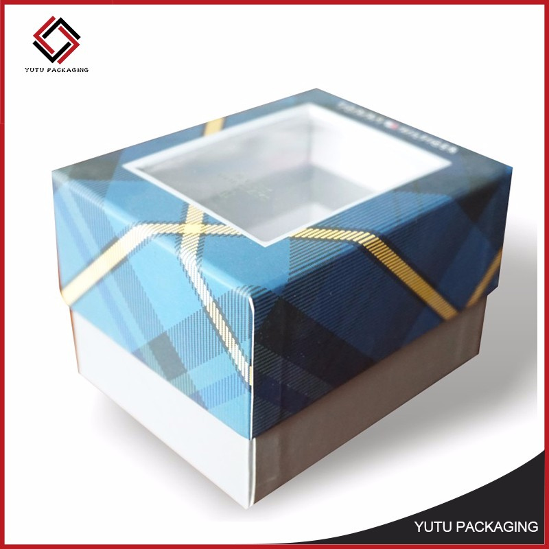 Promotional custom packaging gift box with window