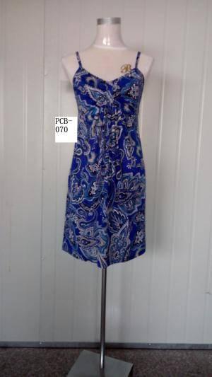 2015 summer new fashion retro print braces skirt for women