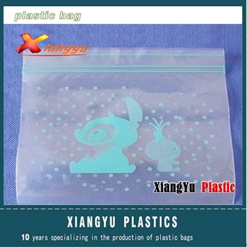 Plastic custom printed zip lock bag