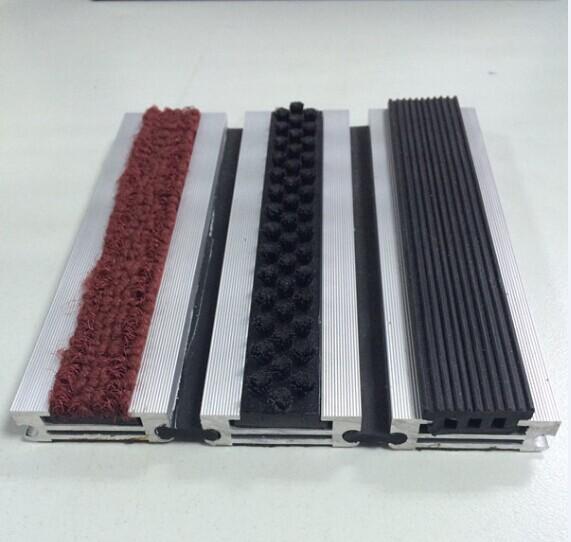 Commercial recessed nylon rug non-slip aluminum mat
