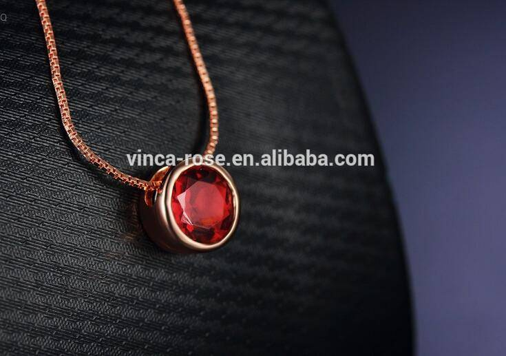 Infinite big garnet simple gemstone gold stone pendant design nice for daily wearing